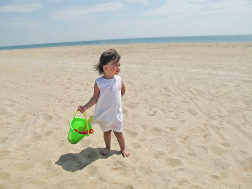 Little Girl at the Beach For The About Us Page